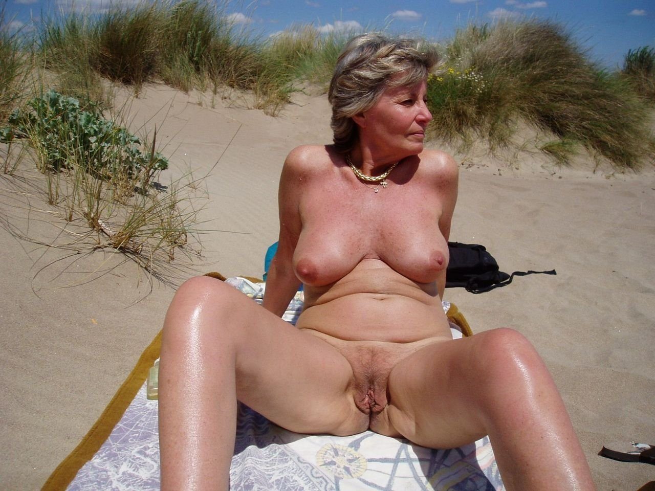 Mature Women Tied Up Outdoors