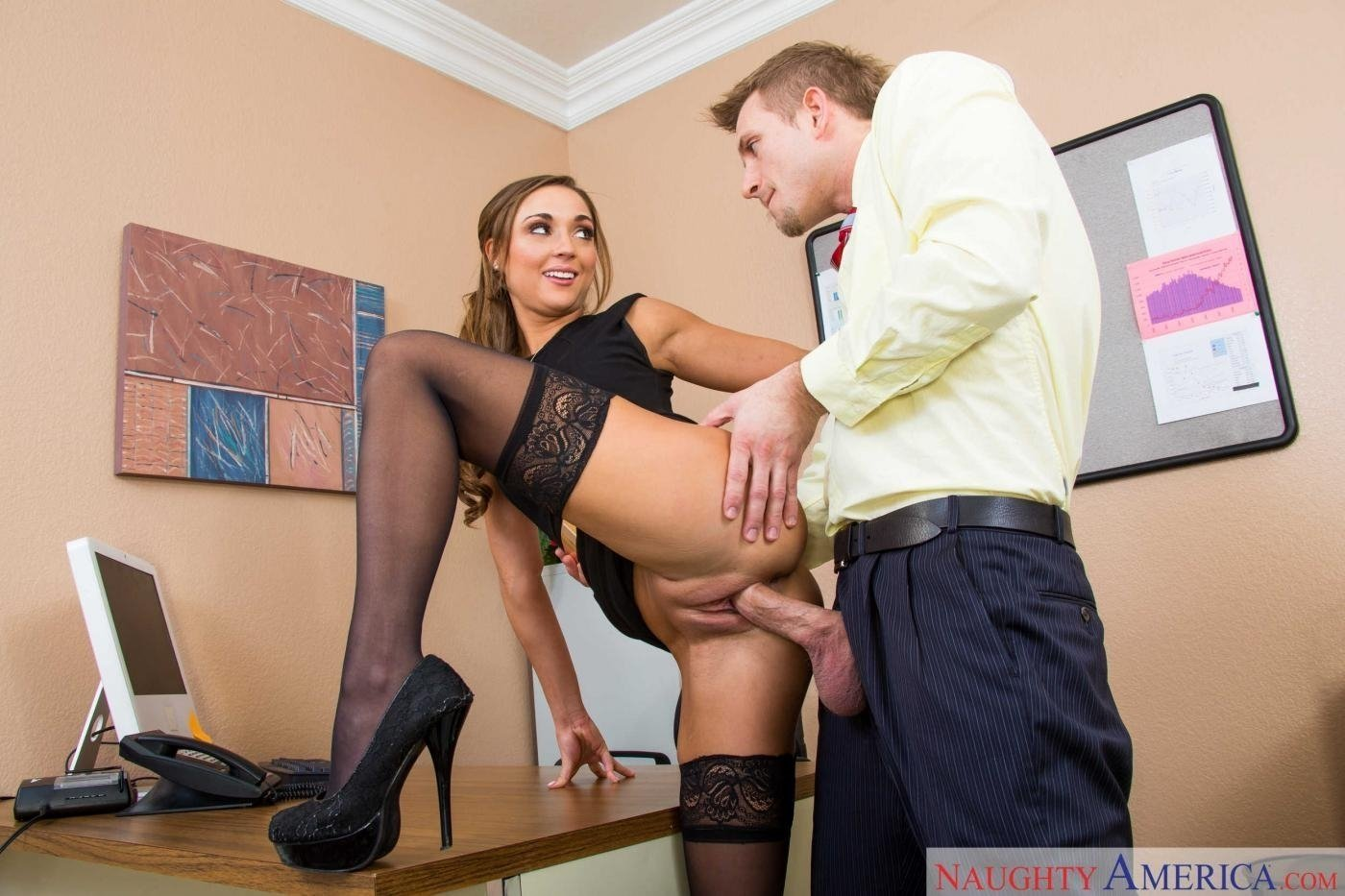 Teen secretary homemade porn on the anal with the boss