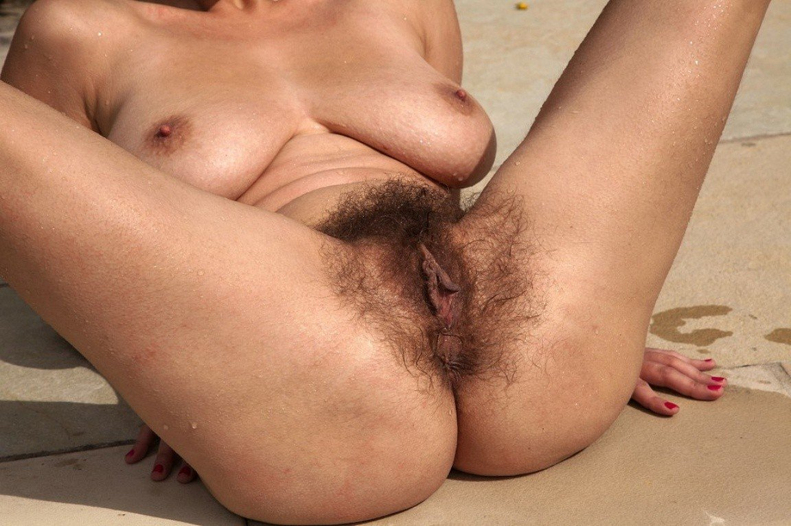 Fingers wet hairy pussy