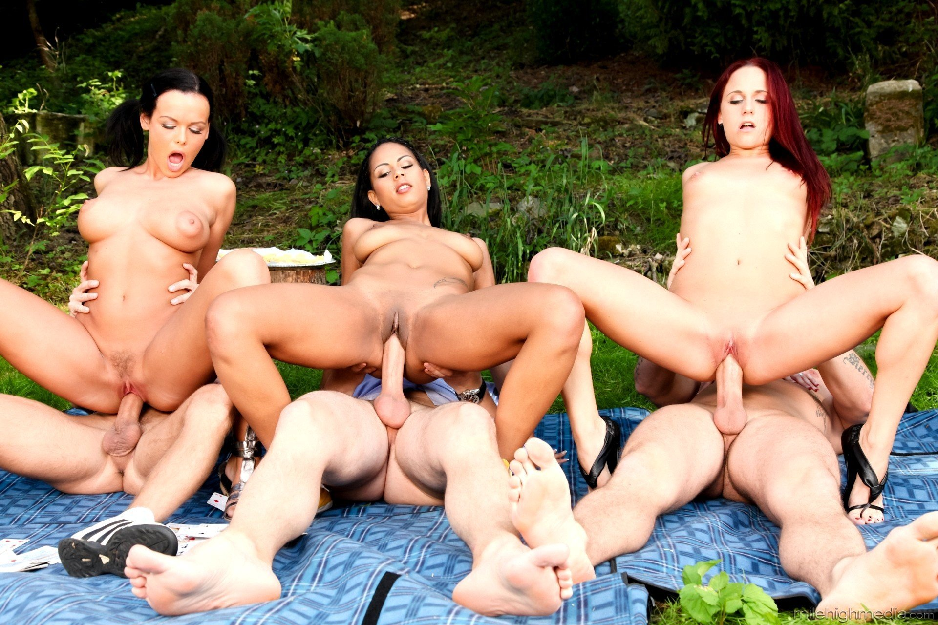 Amazing Outdoor Group Sex By Large Group